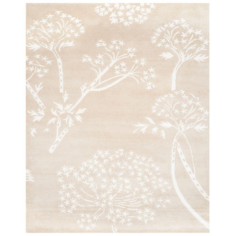 Safavieh Tapis d'intérieur, 8 pi x 10 pi, Bella Karen, sand / ivoire