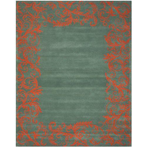 Safavieh Bella Rey Blue / Coral 8 ft. x 10 ft. Indoor Area Rug