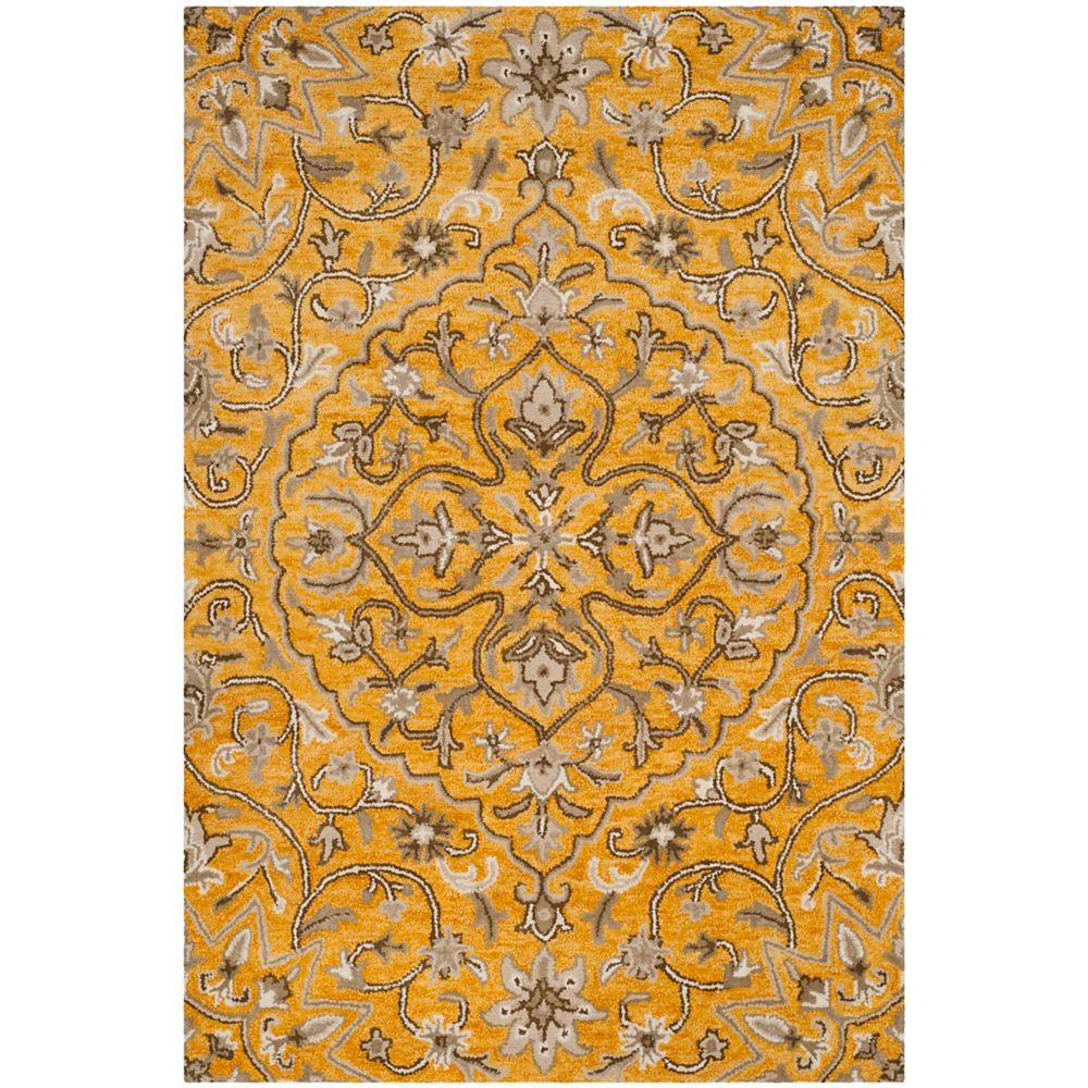 Safavieh Bella Eason Gold / Taupe 5 ft. x 8 ft. Indoor Area Rug