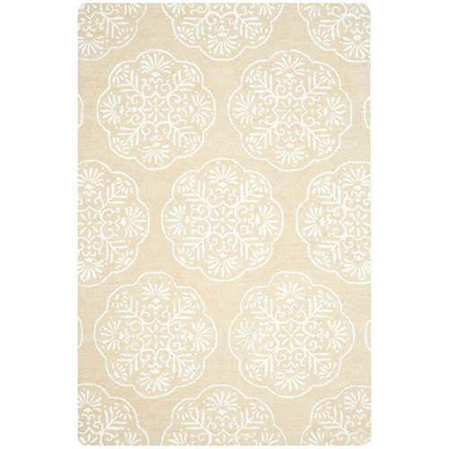 Safavieh Tapis d'intérieur, 6 pi x 9 pi, Bella Duncan, beige / ivoire