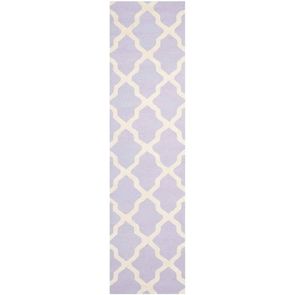 Safavieh Cambridge Giselle Lavender / Ivory 2 ft. 6 inch x 8 ft. Indoor Runner