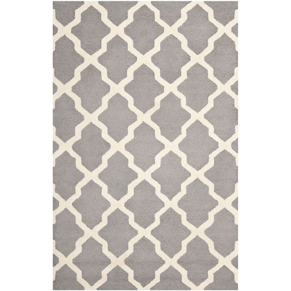 Safavieh Cambridge Giselle Silver / Ivory 5 ft. x 8 ft. Indoor Area Rug
