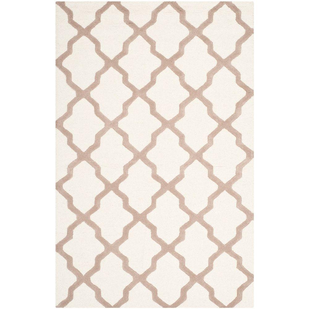 Safavieh Tapis d'intérieur, 5 pi x 8 pi, Cambridge Giselle, ivoire / beige