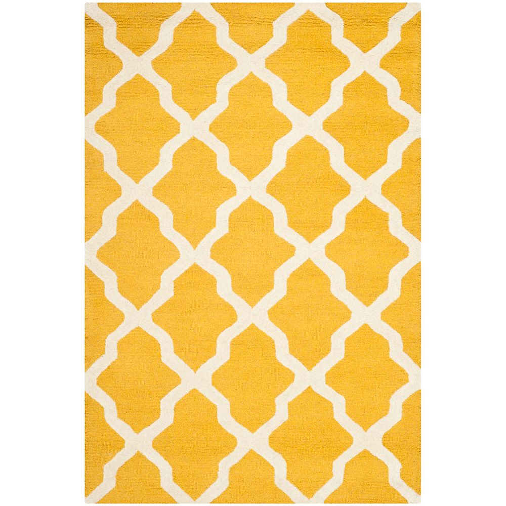 Safavieh Cambridge Giselle Gold / Ivory 4 ft. x 6 ft. Indoor Area Rug
