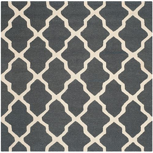 Safavieh Cambridge Giselle Dark Grey / Ivory 4 ft. x 4 ft. Indoor Square Area Rug