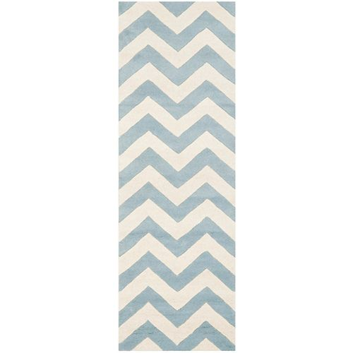 Safavieh Chatham Lara Blue / Ivory 2 ft. 3 inch x 9 ft. Indoor Runner