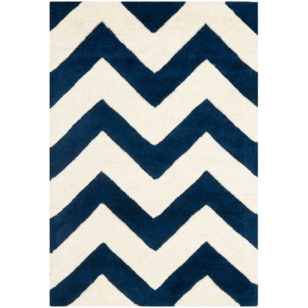 Safavieh Chatham Lara Dark Blue / Ivory 3 ft. x 5 ft. Indoor Area Rug
