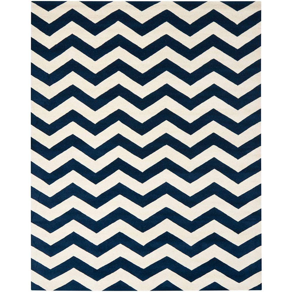 Safavieh Chatham Lara Dark Blue / Ivory 8 ft. x 10 ft. Indoor Area Rug