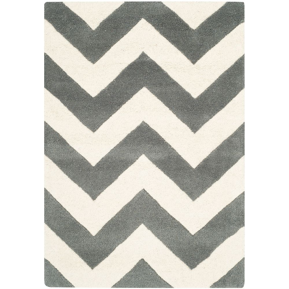 Safavieh Chatham Lara Dark Grey / Ivory 2 ft. x 3 ft. Indoor Area Rug