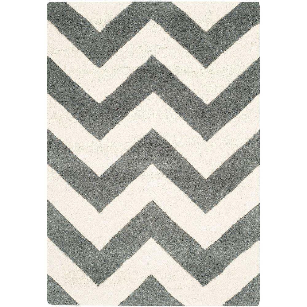 Safavieh Chatham Lara Dark Grey / Ivory 3 ft. x 5 ft. Indoor Area Rug