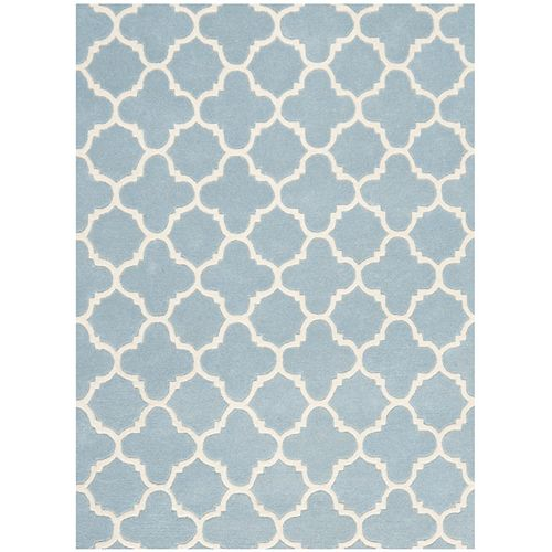 Safavieh Chatham Leslie Blue / Ivory 4 ft. x 6 ft. Indoor Area Rug