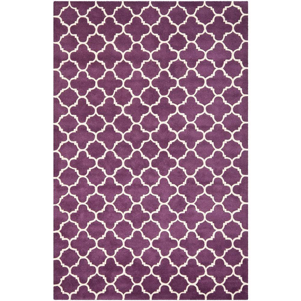 Safavieh Chatham Leslie Purple / Ivory 6 ft. x 9 ft. Indoor Area Rug