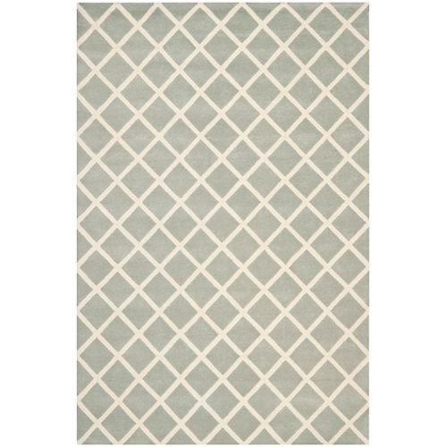 Safavieh Chatham Lily Grey / Ivory 8 ft. x 10 ft. Indoor Area Rug