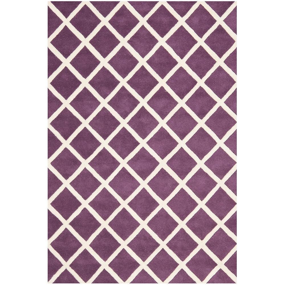 Safavieh Chatham Lily Purple Ivory 4 Ft X 6 Ft Indoor Area Rug The Home Depot Canada