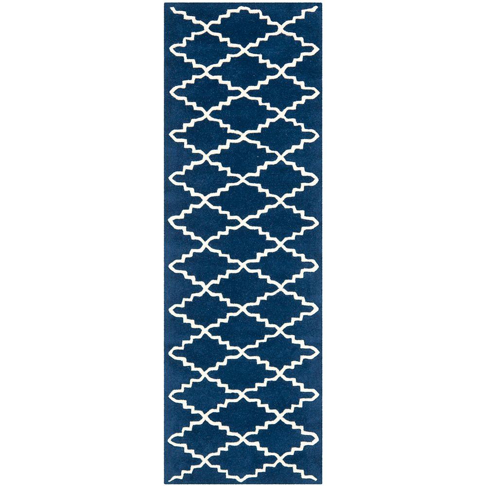 Safavieh Chatham Philip Dark Blue / Ivory 2 ft. 3 inch x 7 ft. Indoor Runner