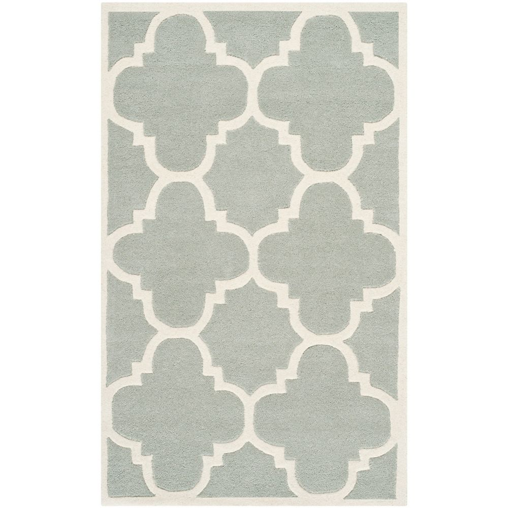 Safavieh Chatham Abe Grey / Ivory 3 ft. x 5 ft. Indoor Area Rug