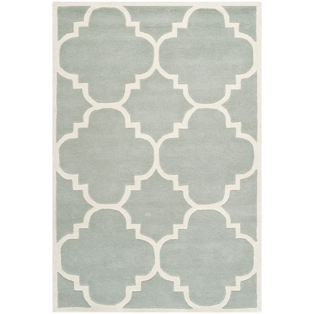 Safavieh Chatham Abe Grey / Ivory 4 ft. x 6 ft. Indoor Area Rug