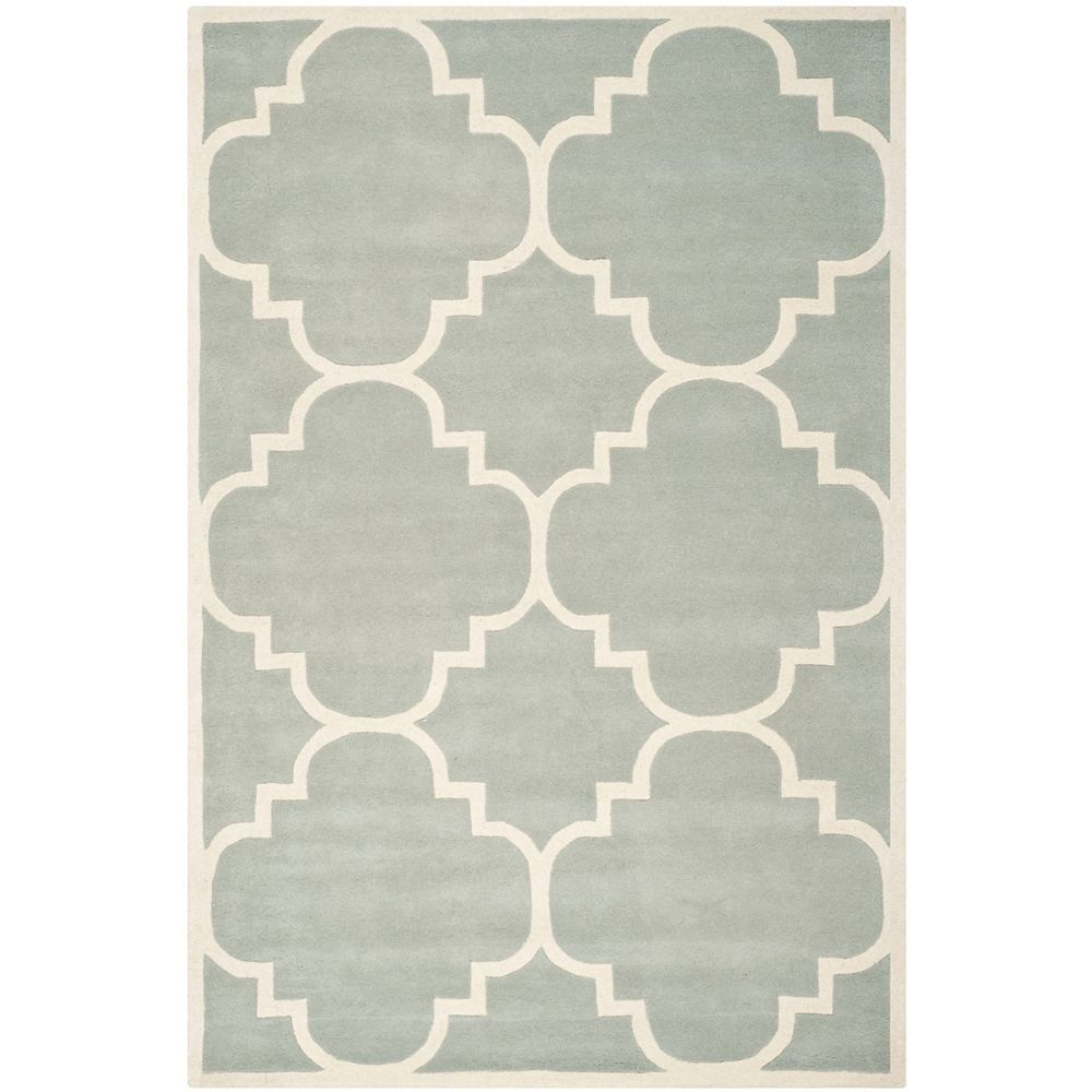 Safavieh Chatham Abe Grey / Ivory 6 ft. x 9 ft. Indoor Area Rug
