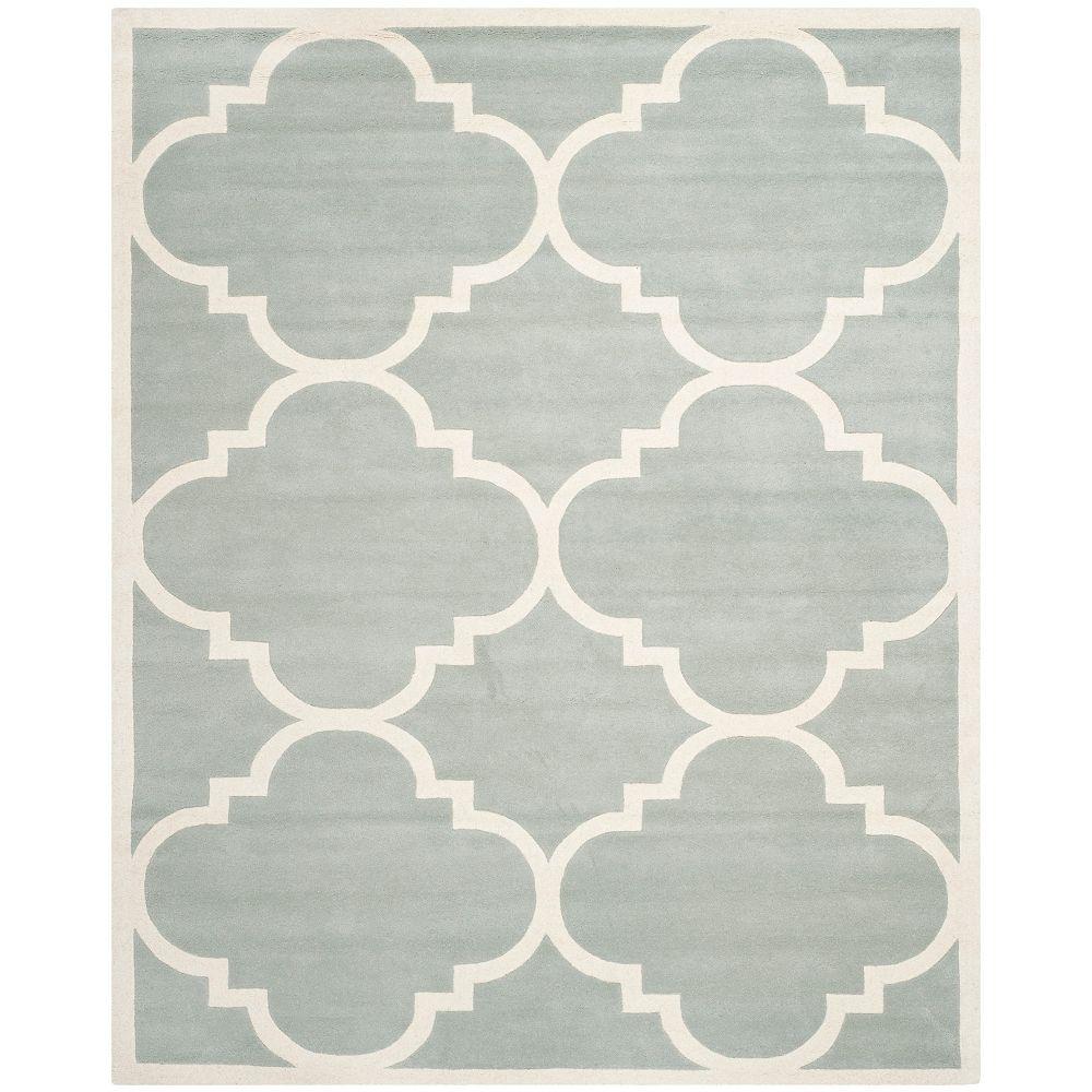 Safavieh Tapis d'intérieur, 8 pi x 10 pi, Chatham Abe, gris / ivoire