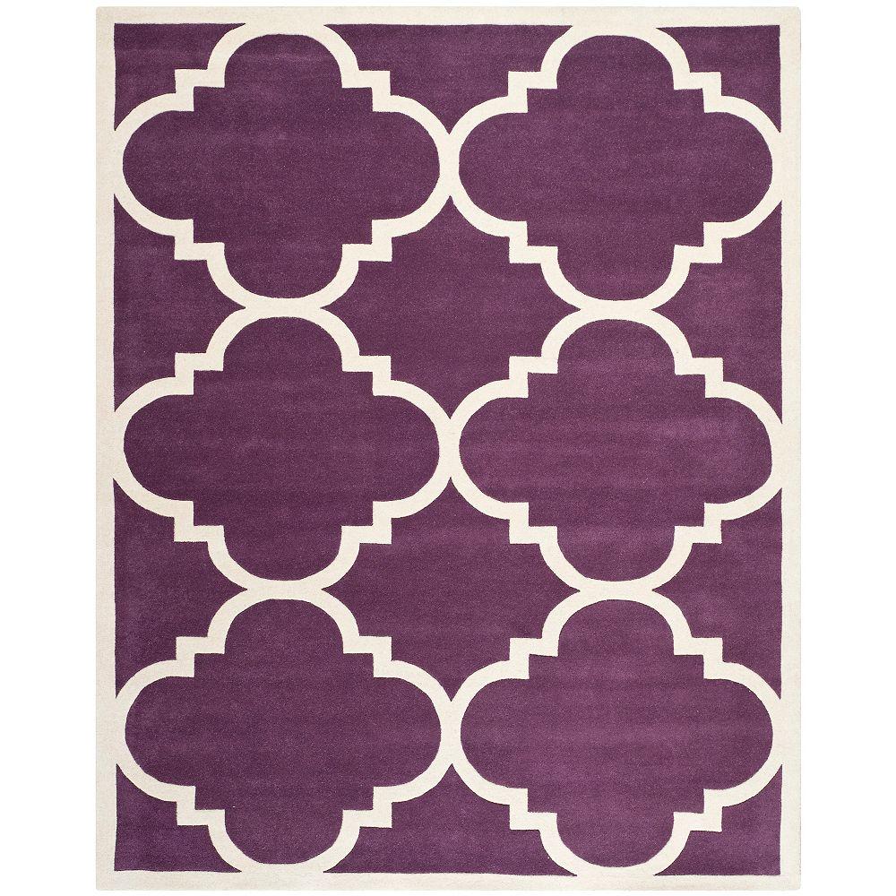 Safavieh Tapis d'intérieur, 8 pi x 10 pi, Chatham Abe, violet / ivoire