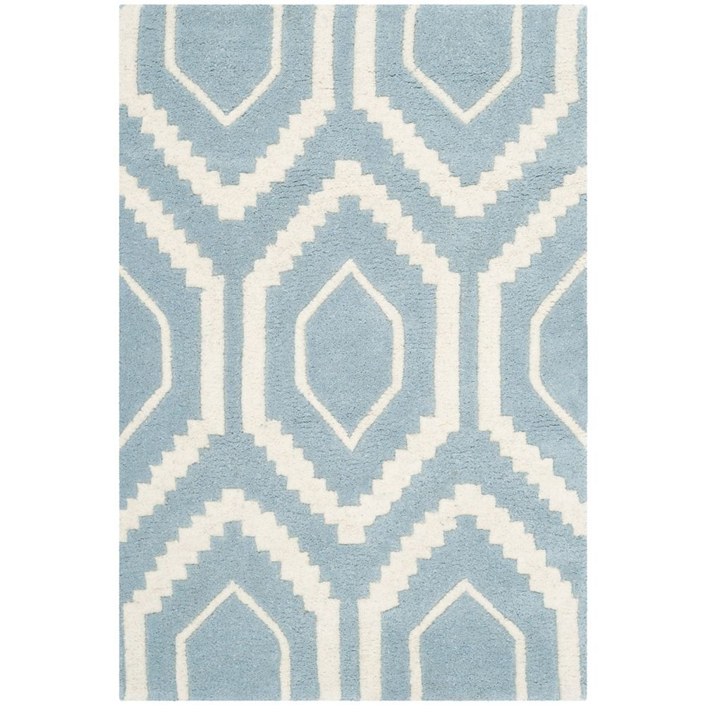 Safavieh Chatham Beau Blue / Ivory 2 ft. x 3 ft. Indoor Area Rug