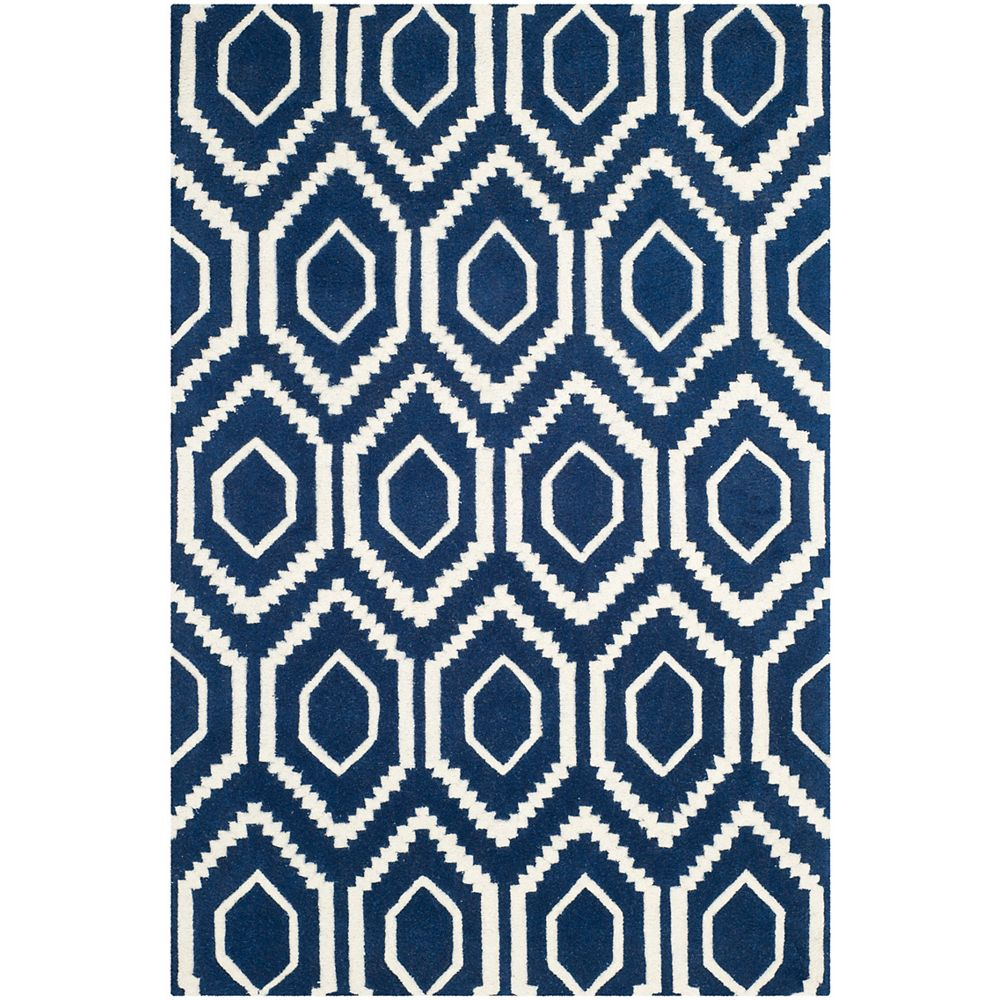 Safavieh Chatham Beau Dark Blue / Ivory 4 ft. x 6 ft. Indoor Area Rug