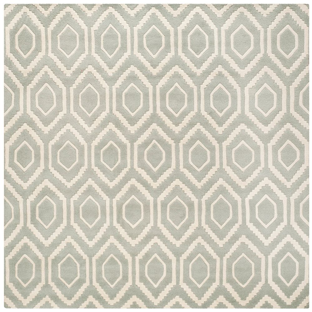 Safavieh Chatham Beau Grey / Ivory 7 ft. x 7 ft. Indoor Square Area Rug
