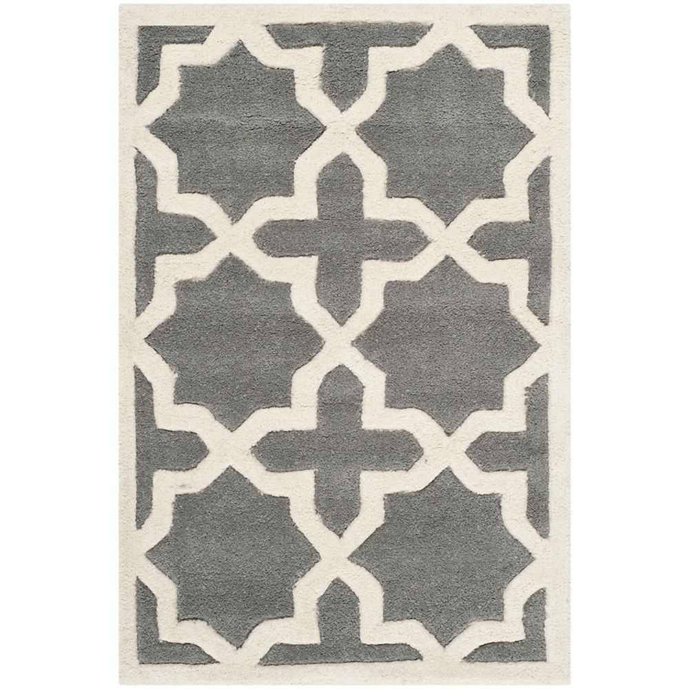 Safavieh Chatham Carlton Dark Grey / Ivory 3 ft. x 5 ft. Indoor Area Rug