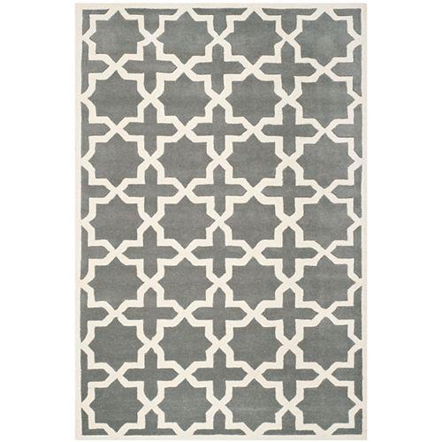 Safavieh Chatham Carlton Dark Grey / Ivory 6 ft. x 9 ft. Indoor Area Rug