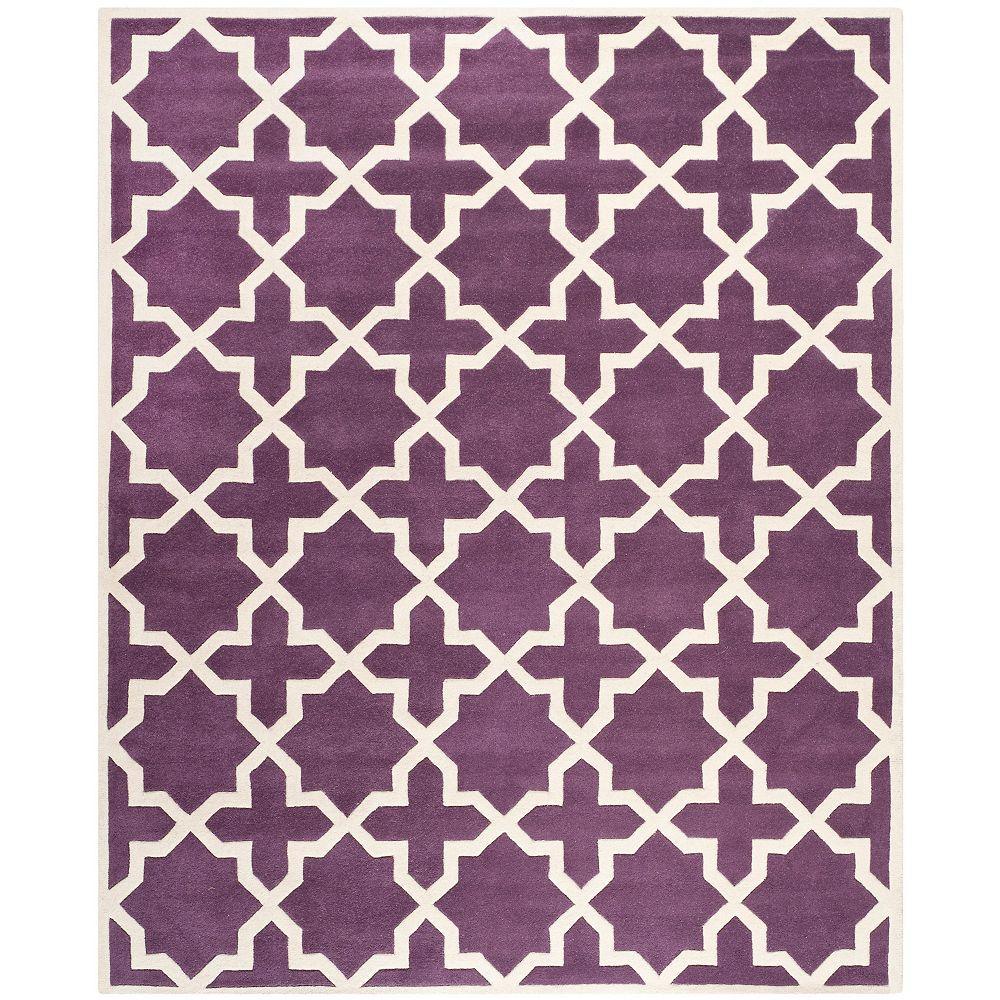 Safavieh Tapis d'intérieur, 8 pi x 10 pi, Chatham Carlton, violet / ivoire