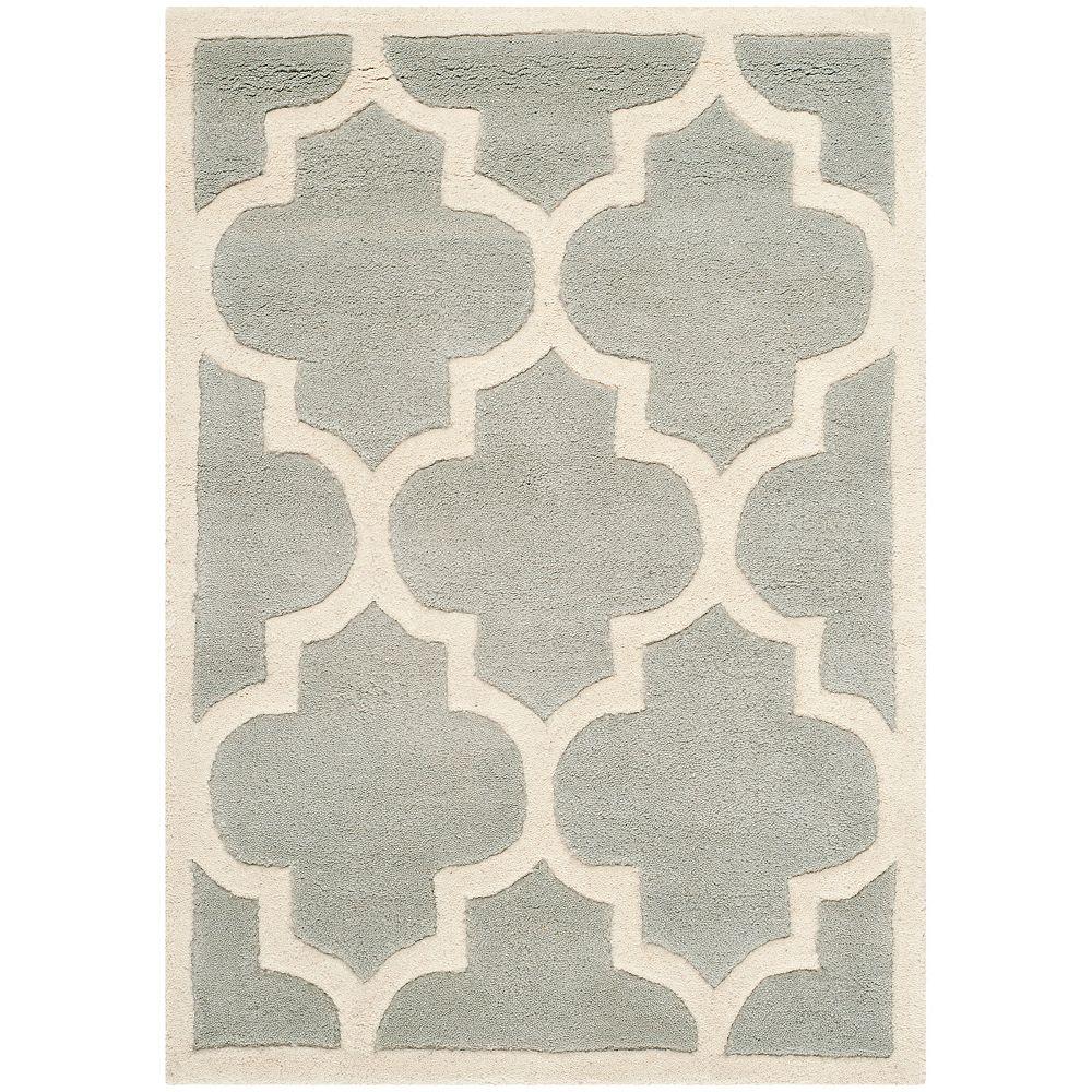 Safavieh Tapis d'intérieur, 2 pi x 3 pi, Chatham Caprice, gris / ivoire