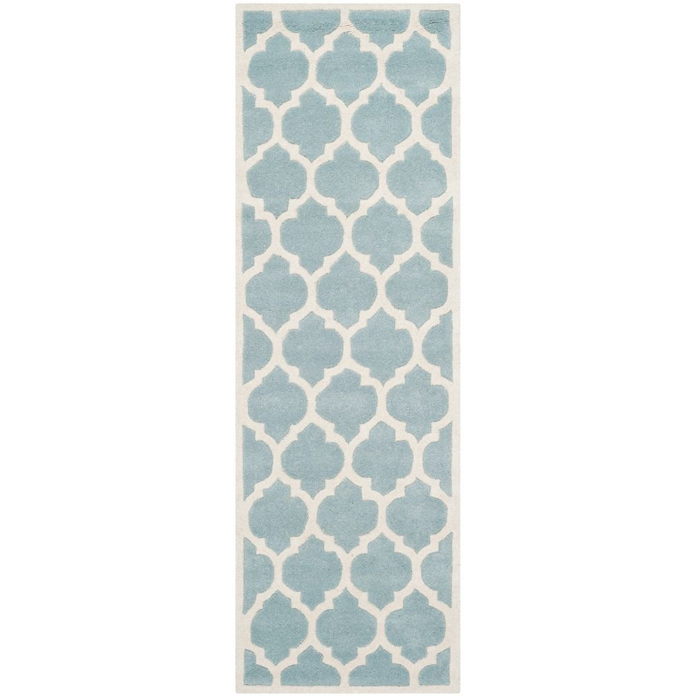 Safavieh Chatham Candace Blue / Ivory 2 ft. 3 inch x 9 ft. Indoor Runner