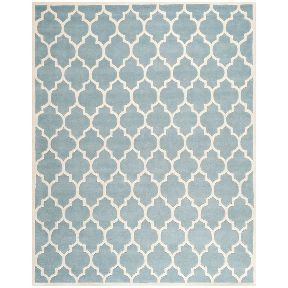 Safavieh Chatham Candace Blue / Ivory 8 ft. x 10 ft. Indoor Area Rug