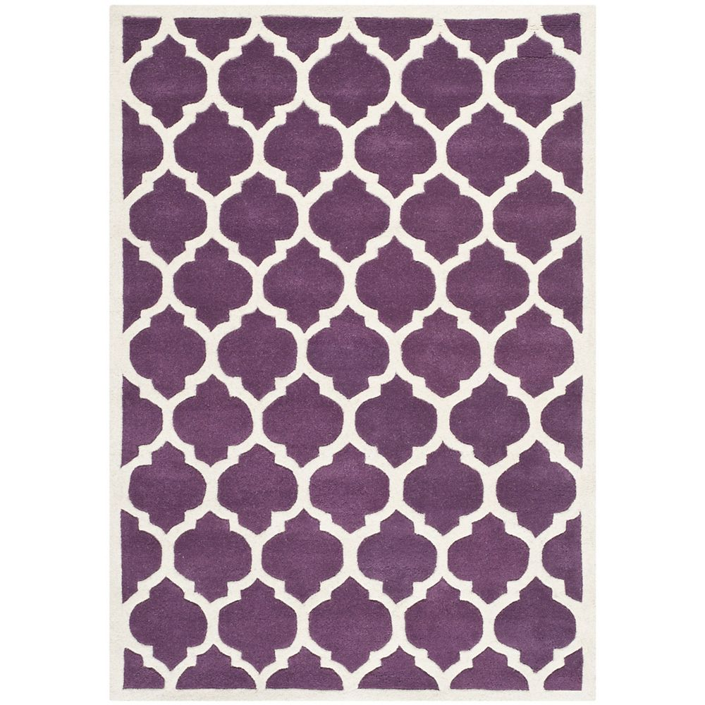 Safavieh Chatham Candace Purple Ivory 4 Ft X 6 Ft Indoor Area Rug The Home Depot Canada