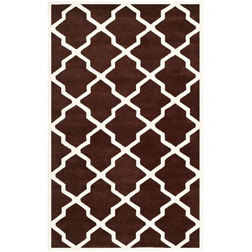 Safavieh Tapis d'intérieur, 4 pi x 6 pi, Chatham Stephen, brun foncé / ivoire