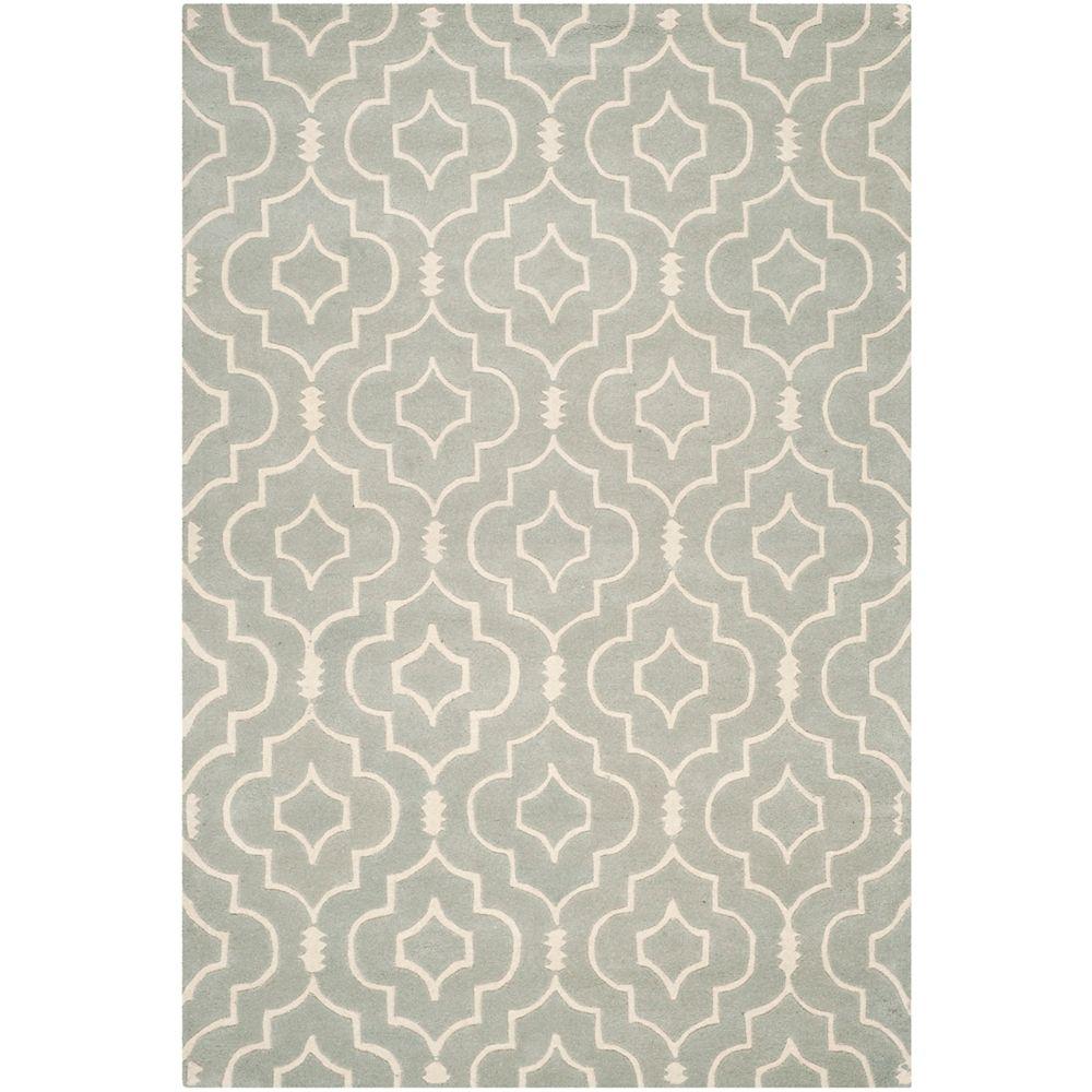 Safavieh Tapis d'intérieur, 5 pi x 8 pi, Chatham Romain, gris / ivoire