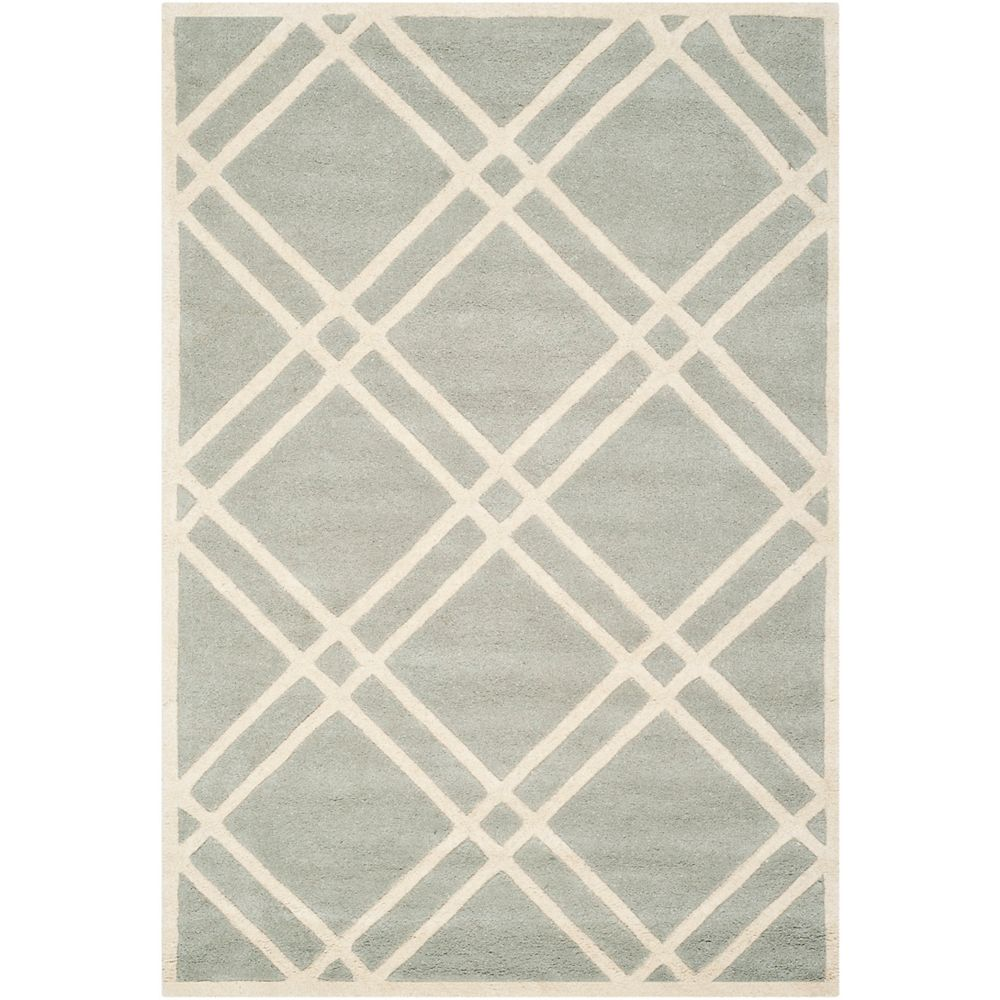Safavieh Chatham Patrick Grey / Ivory 5 ft. x 8 ft. Indoor Area Rug