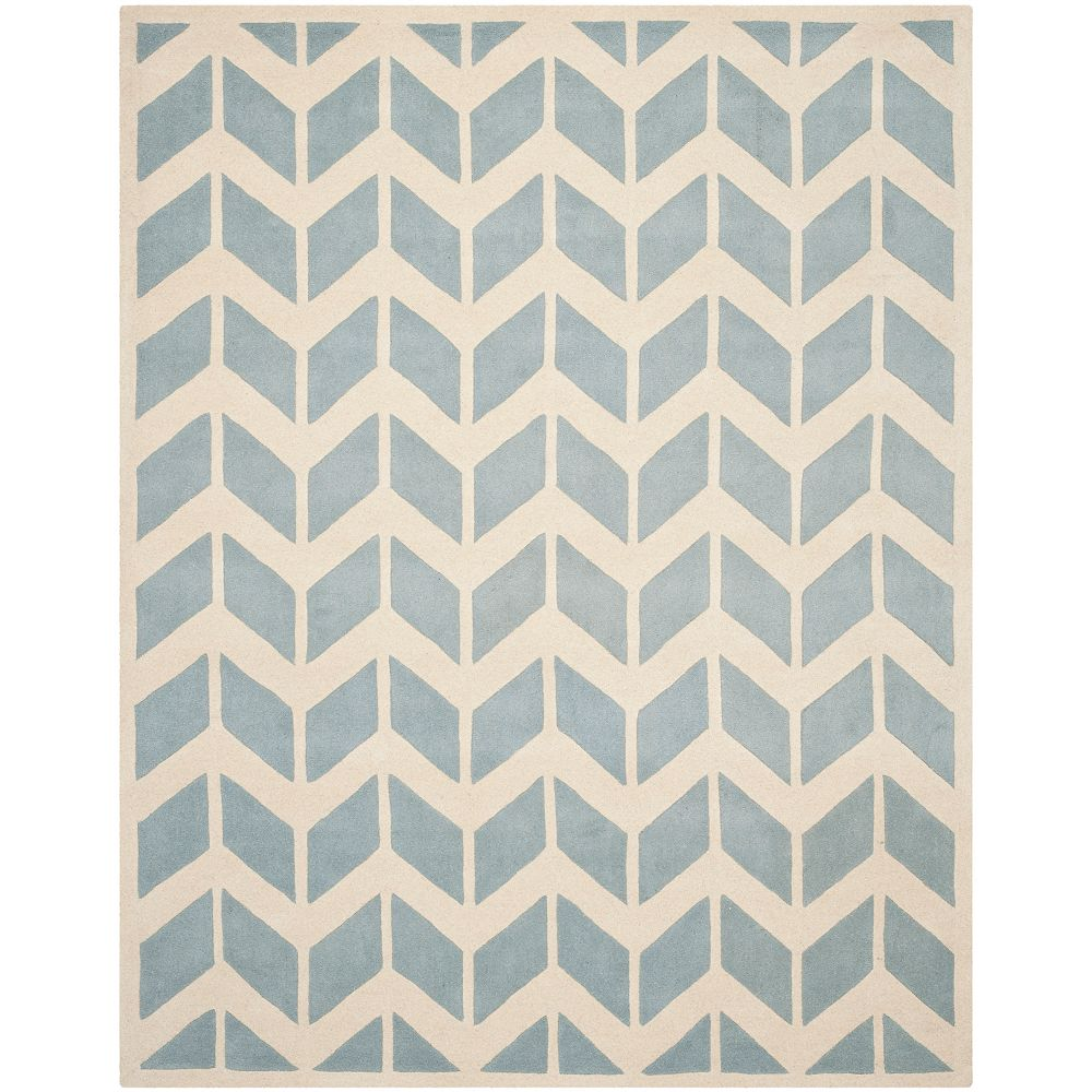 Safavieh Chatham Cecil Blue / Ivory 6 ft. x 9 ft. Indoor Area Rug