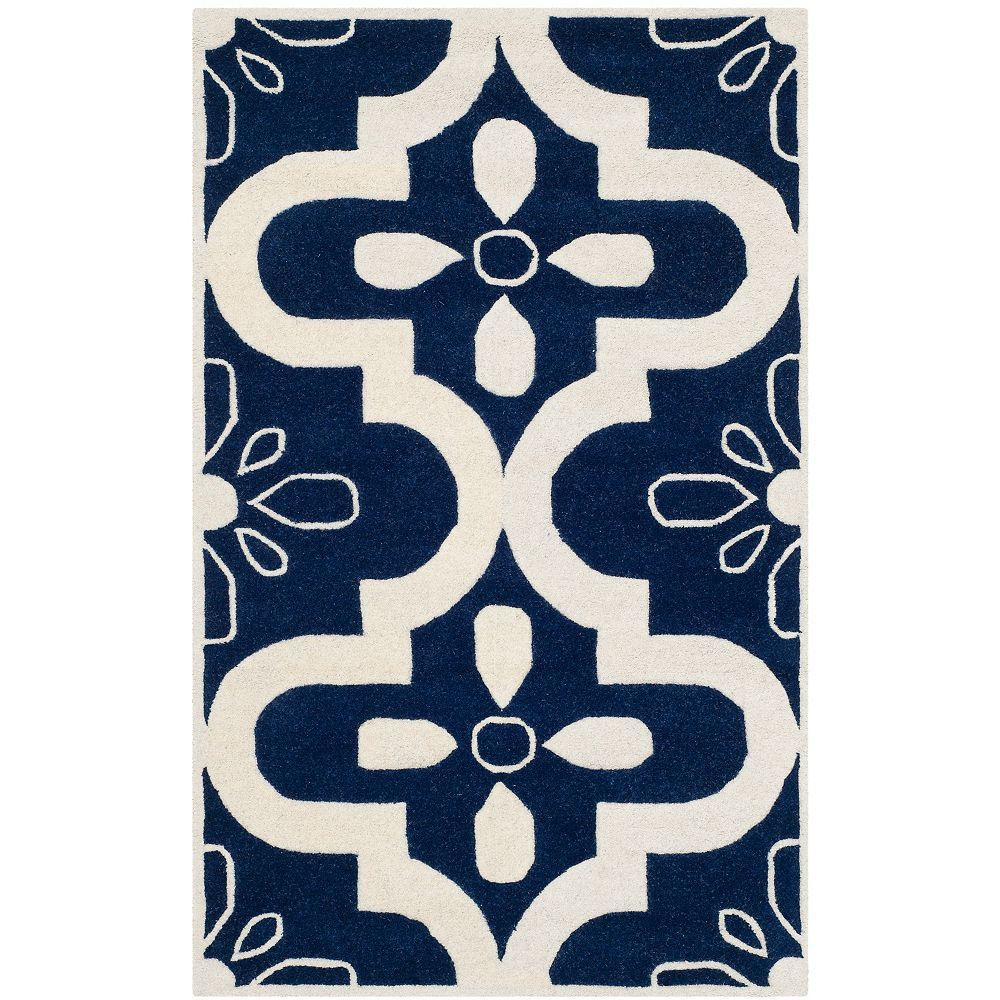 Safavieh Chatham Deitra Dark Blue / Ivory 3 ft. x 5 ft. Indoor Area Rug