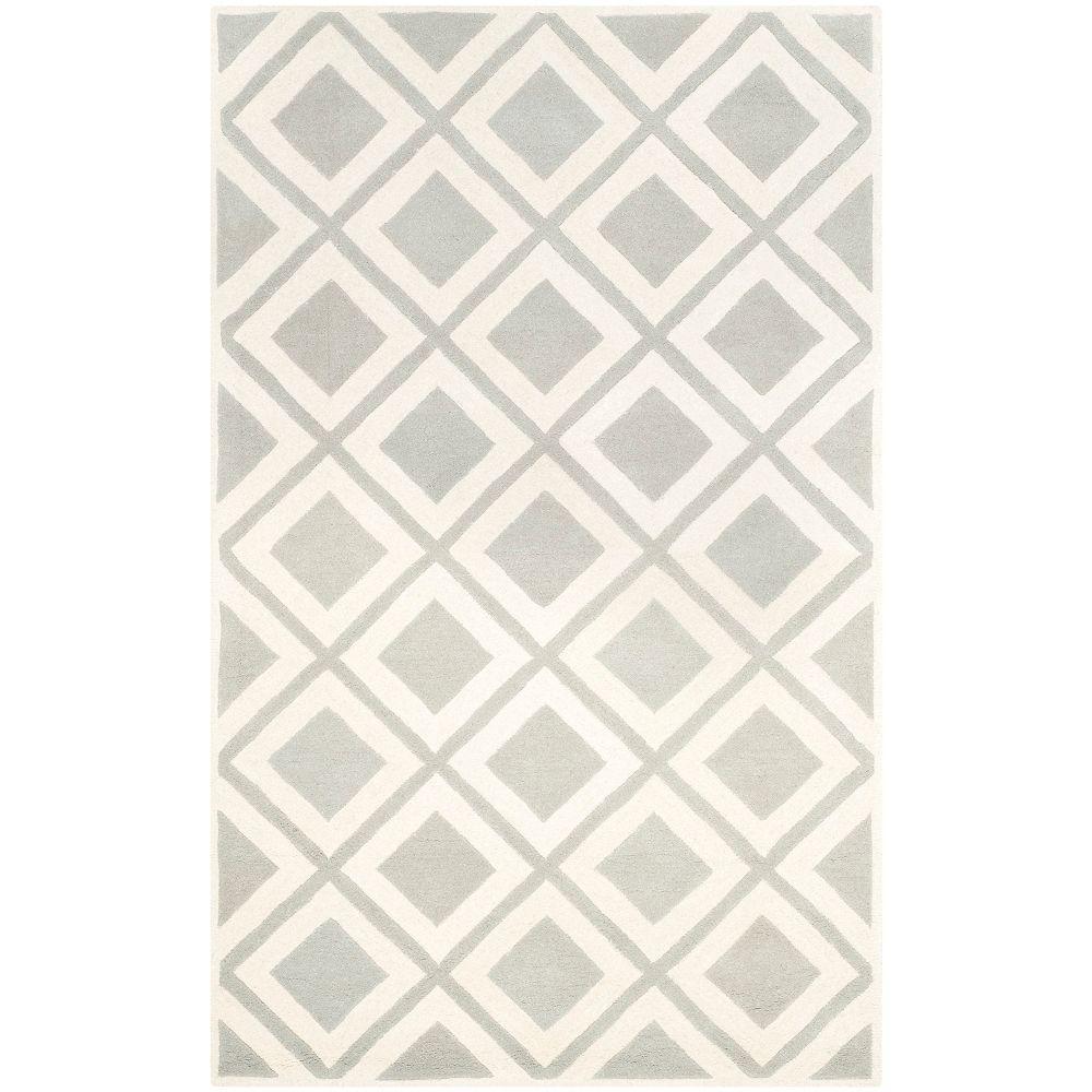 Safavieh Chatham Dom Grey / Ivory 5 ft. x 8 ft. Indoor Area Rug