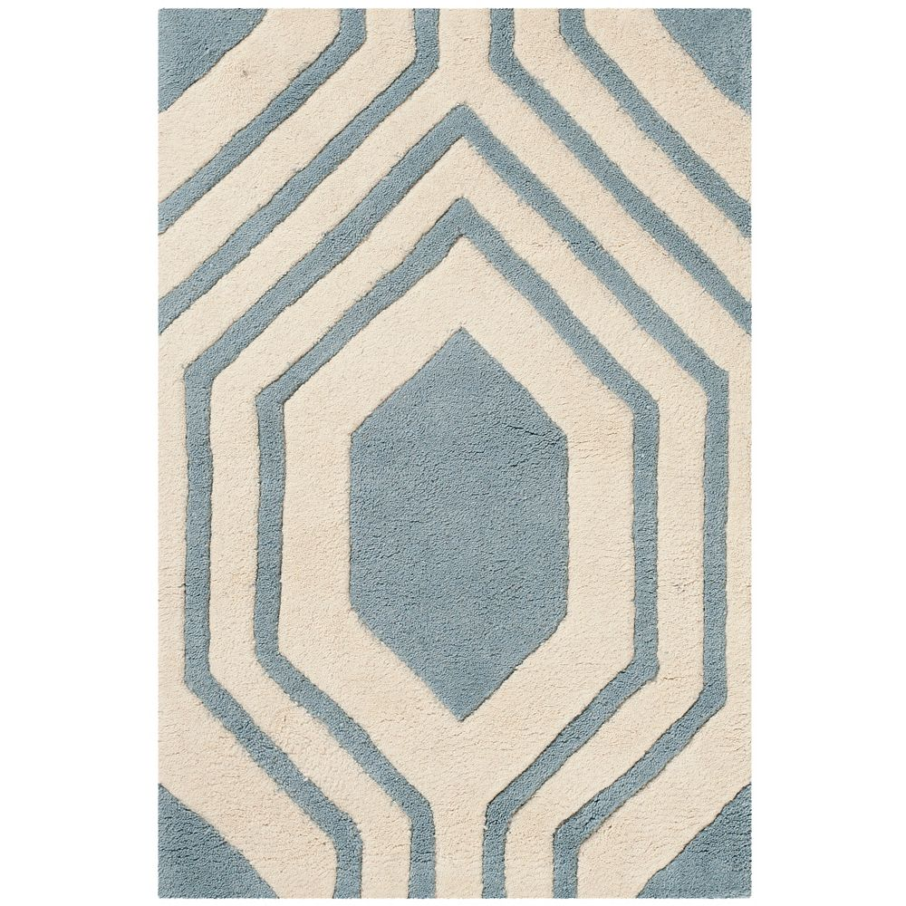 Safavieh Chatham Dorian Blue / Ivory 2 ft. x 3 ft. Indoor Area Rug