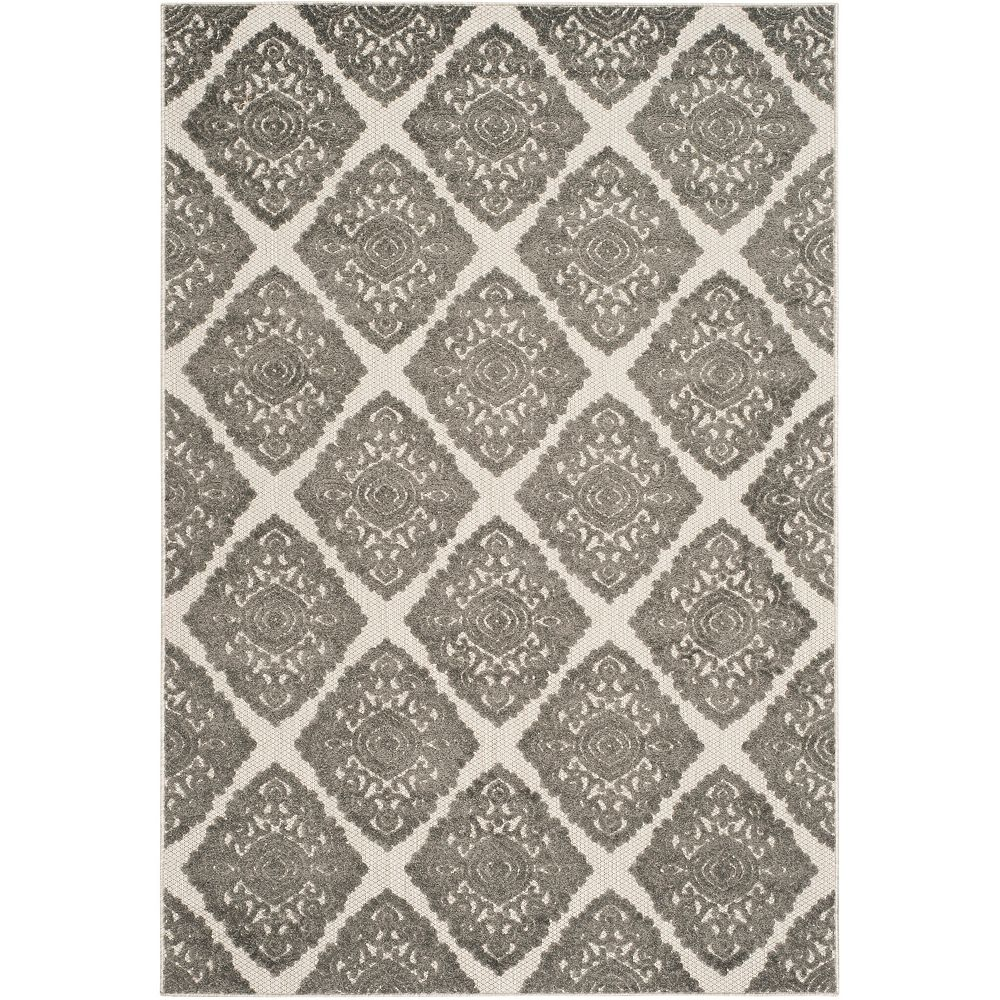 Safavieh Cottage Quincy Cream / Grey 4 ft. x 6 ft. Indoor/Outdoor Area Rug