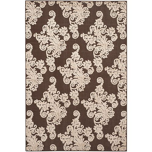 Safavieh Cottage Hector Brown / Beige 4 ft. x 6 ft. Indoor/Outdoor Area Rug