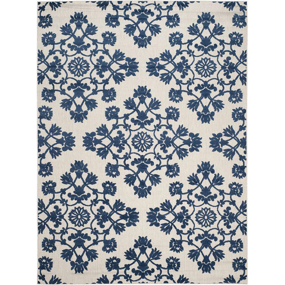 Safavieh Cottage Duke Light Grey / Royal Blue 8 ft. x 11 ft. 2 inch Indoor/Outdoor Area Rug