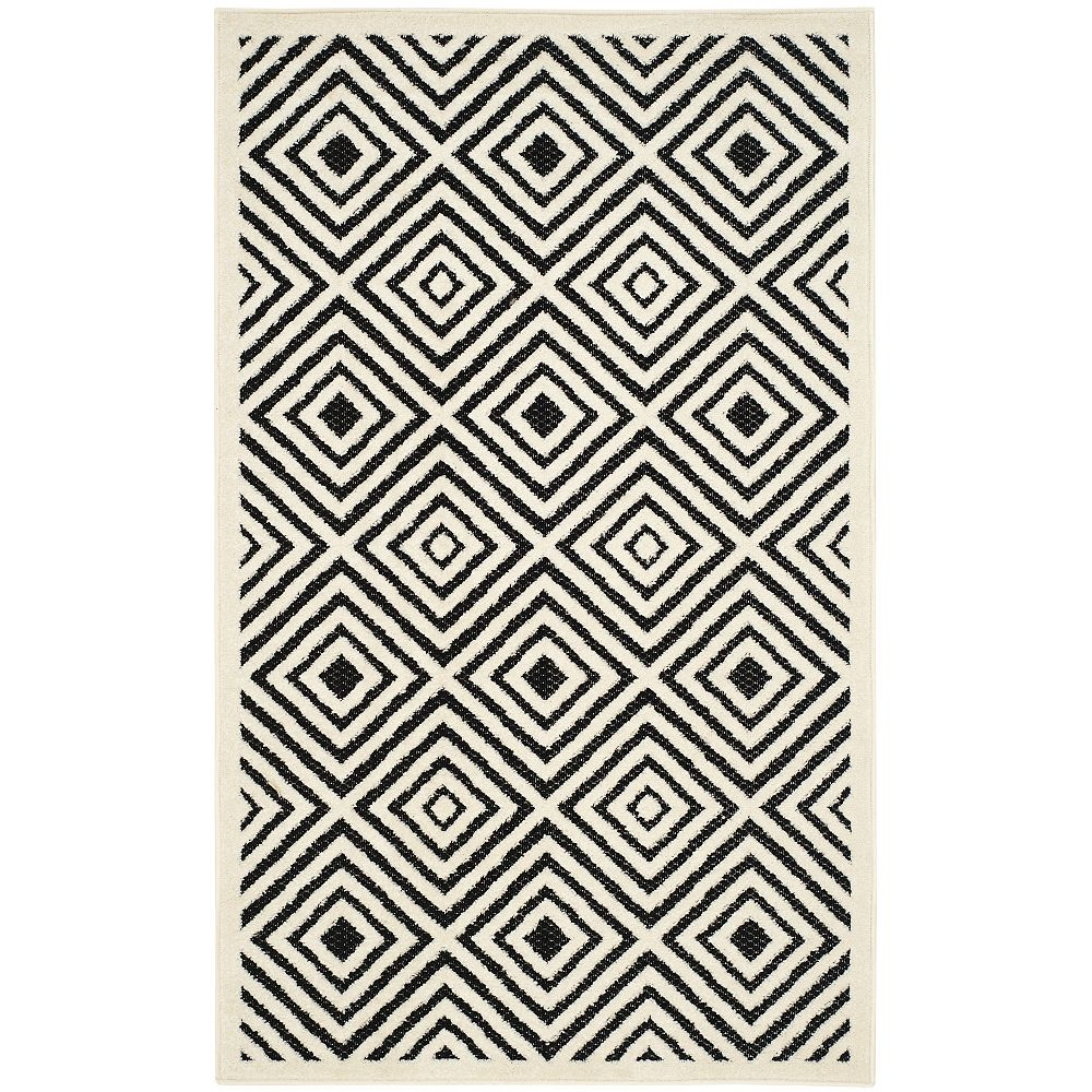 Safavieh Cottage Mia Cream / Anthracite 3 ft. 3 inch x 5 ft. 3 inch Indoor/Outdoor Area Rug