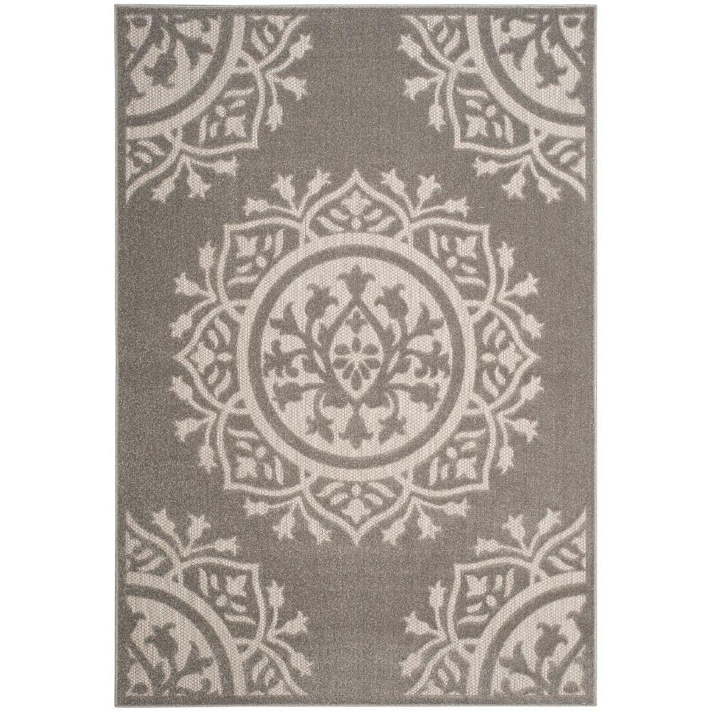 Safavieh Tapis d'intérieur/extérieur, 4 pi x 6 pi, Cottage Serene, gris / gris clair