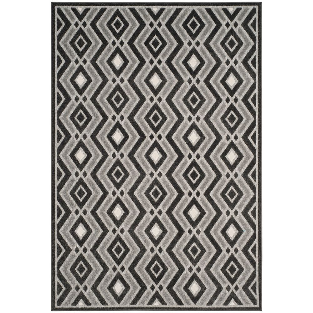 Safavieh Tapis d'intérieur/extérieur, 4 pi x 6 pi, Cottage Andrew, dark gris / gris clair