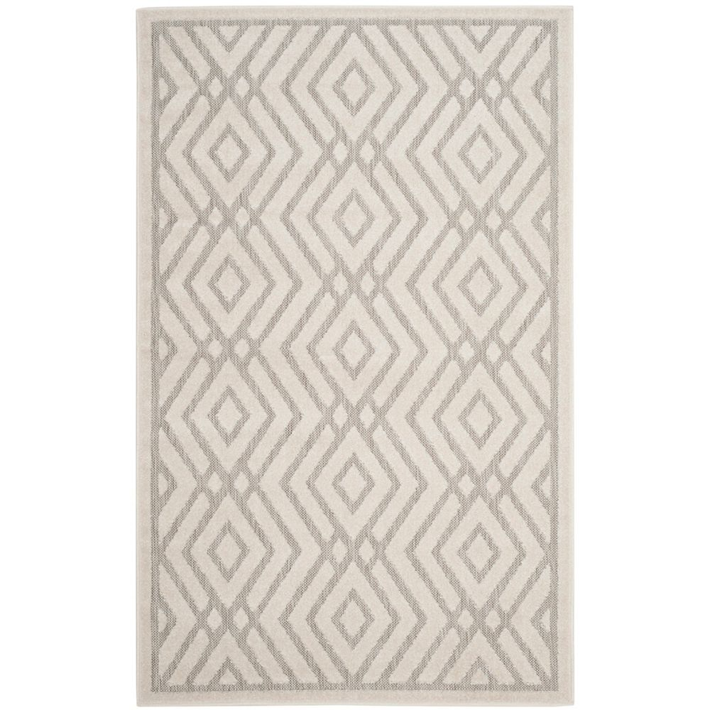 Safavieh Cottage Andrew Light Grey / Cream 3 ft. 3 inch x 5 ft. 3 inch Indoor/Outdoor Area Rug