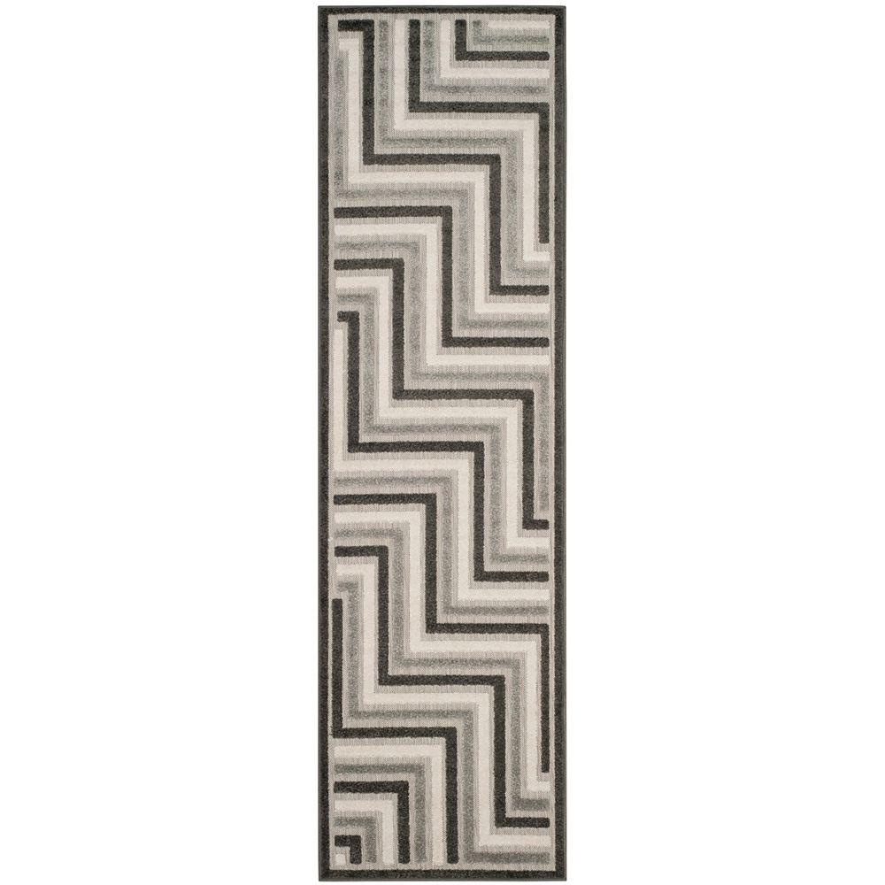 Safavieh Cottage Norton Dark Grey / Light Grey 2 ft. 3 inch x 8 ft. Indoor/Outdoor Runner