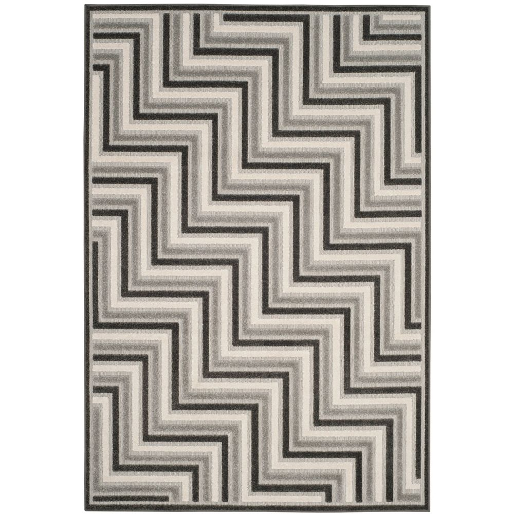 Safavieh Cottage Norton Dark Grey / Light Grey 6 ft. 7 inch x 9 ft. 6 inch Indoor/Outdoor Area Rug